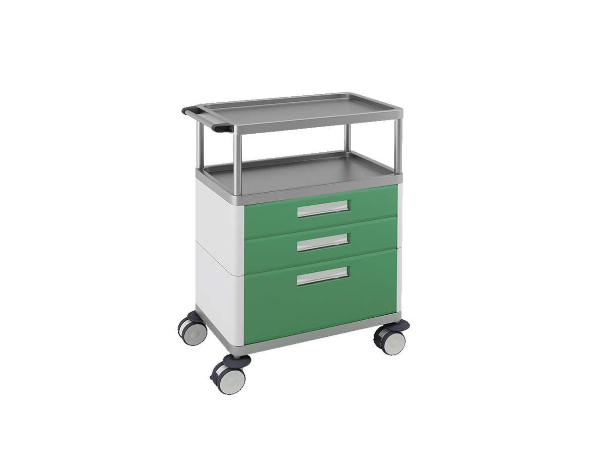 H-753 Multifunctional Trolley with 3 Drawers