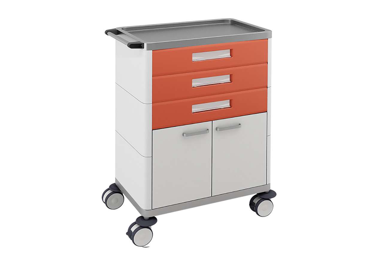 H-733 Multifunctional Trolley With 3 Drawers and Cabinet
