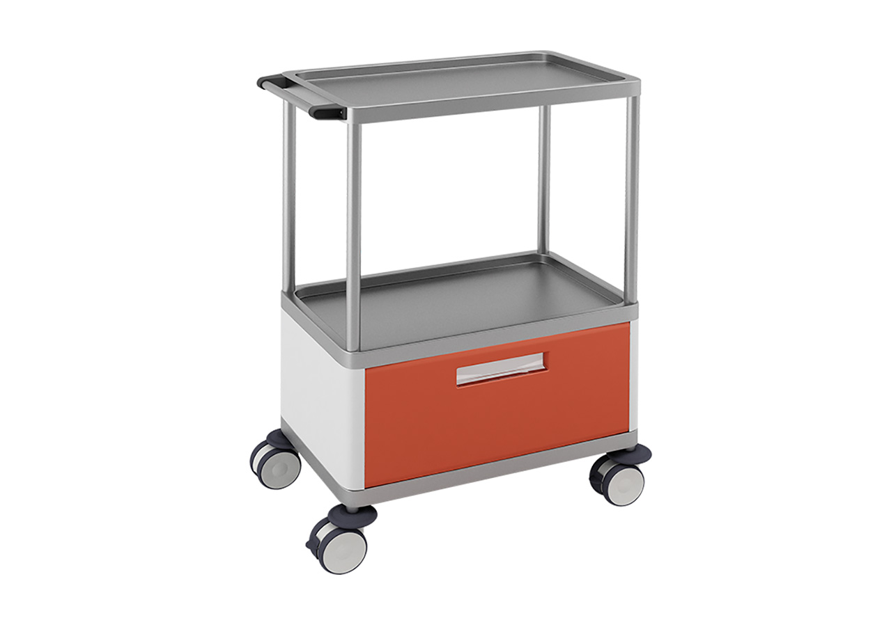 H-741 Trolley with 1 Big Lower Drawer and 2 Shelves