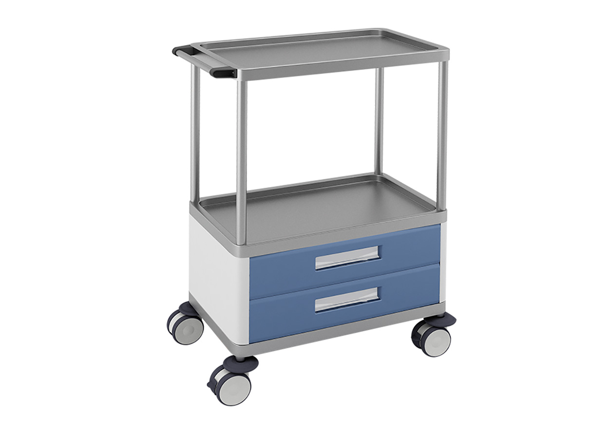 H-742 Trolley with 2 Medium Lower Drawer and 2 Shelves