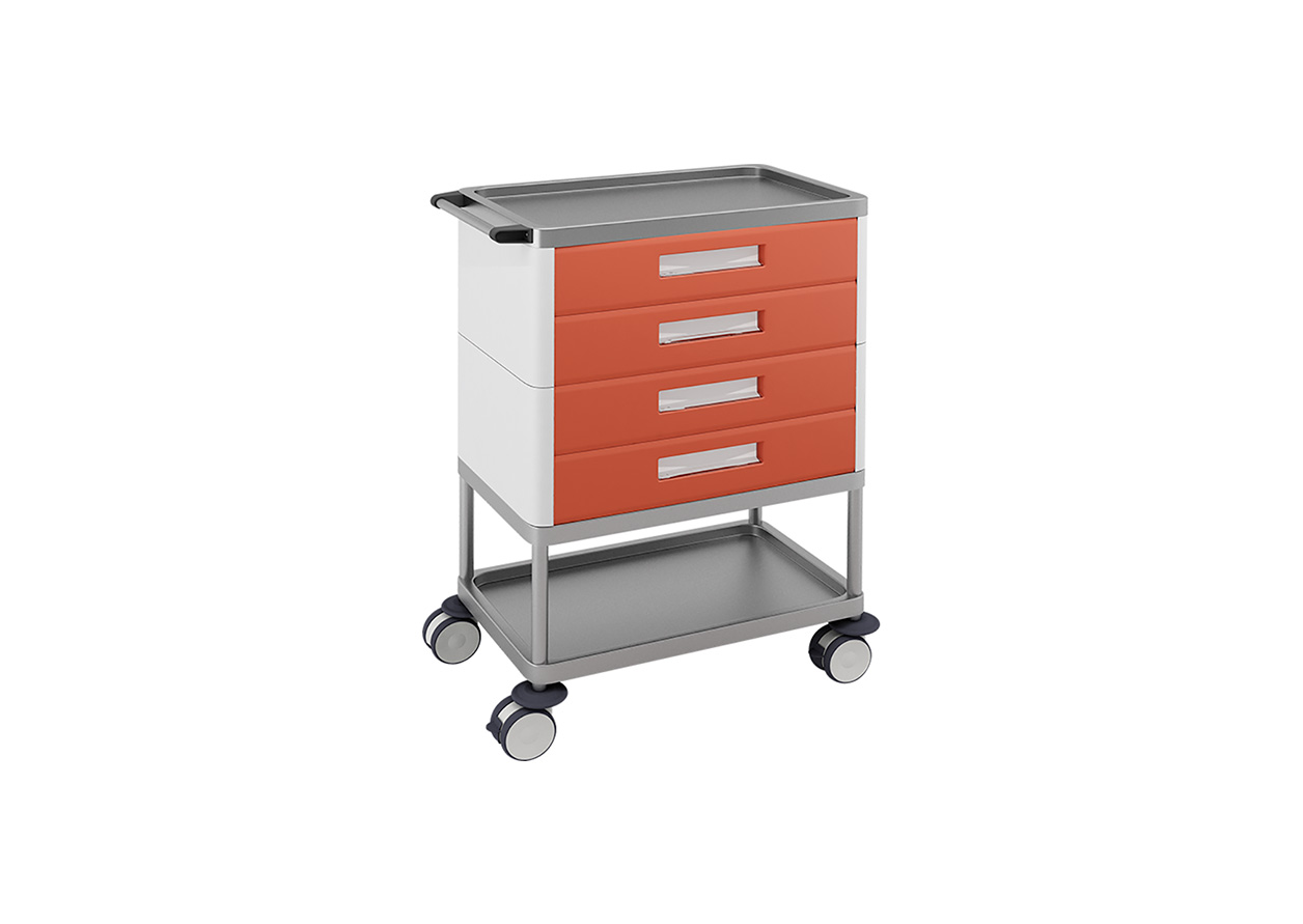 H-794 Multifunctional Trolley with 4 Drawers