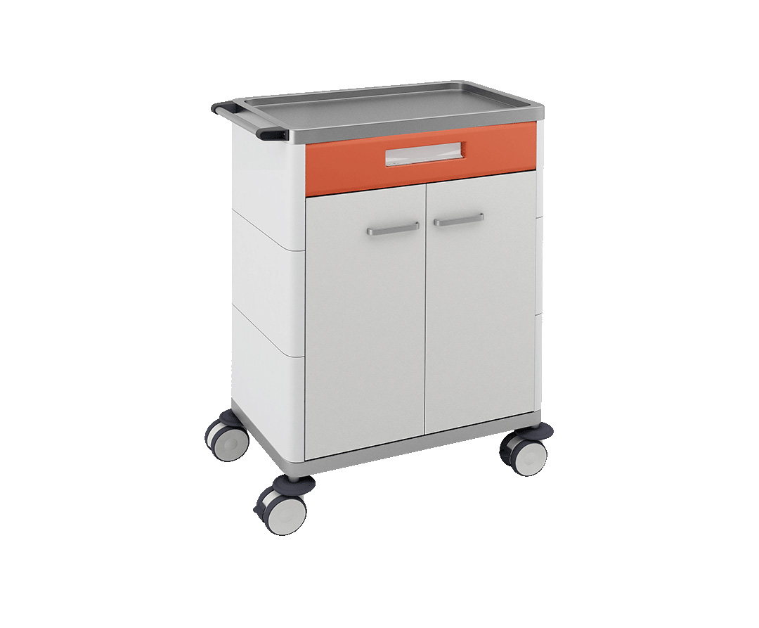 H-731 Multifunctional Trolley with 1 Drawer and Cabinet